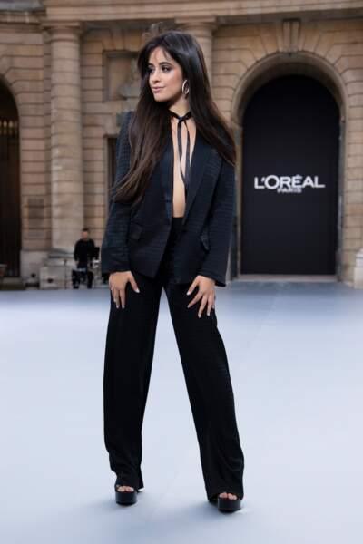 Le regard smocky de Camila Cabello ? La palette, l'eyeliner et le mascara, collection KL x L'Oréal Paris