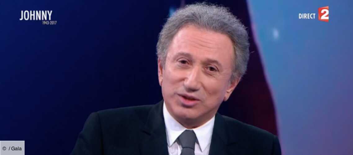 Video Les Larmes De Michel Drucker En Disant Adieu A Johnny Hallyday Gala