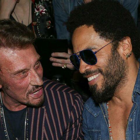 """PHOTOS – Lenny Kravitz rend hommage à """"son ami"""" Johnny Hallyday"""