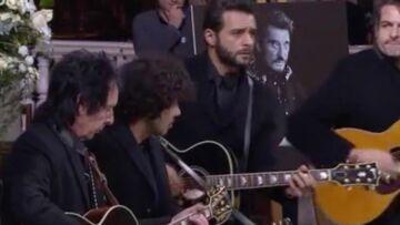 VIDEO –Hommage à Johnny Hallyday: «Toute la musique que j'aime», quand les invités de l'église tapent dans leurs mains en rythme, comme si Johnny était encore là