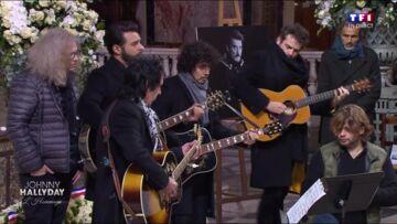 VIDEO – Hommage à Johnny Hallyday: Maxim Nucci, Yarol Poupaud et Matthieu Chedid à la guitare dans l'église avant le début de la cérémonie