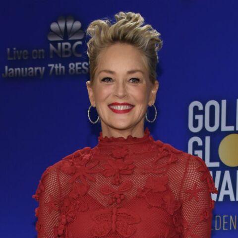 PHOTOS -Sharon Stone, découvrez sa coupe totalement ébouriffante aux Golden Globes Awards