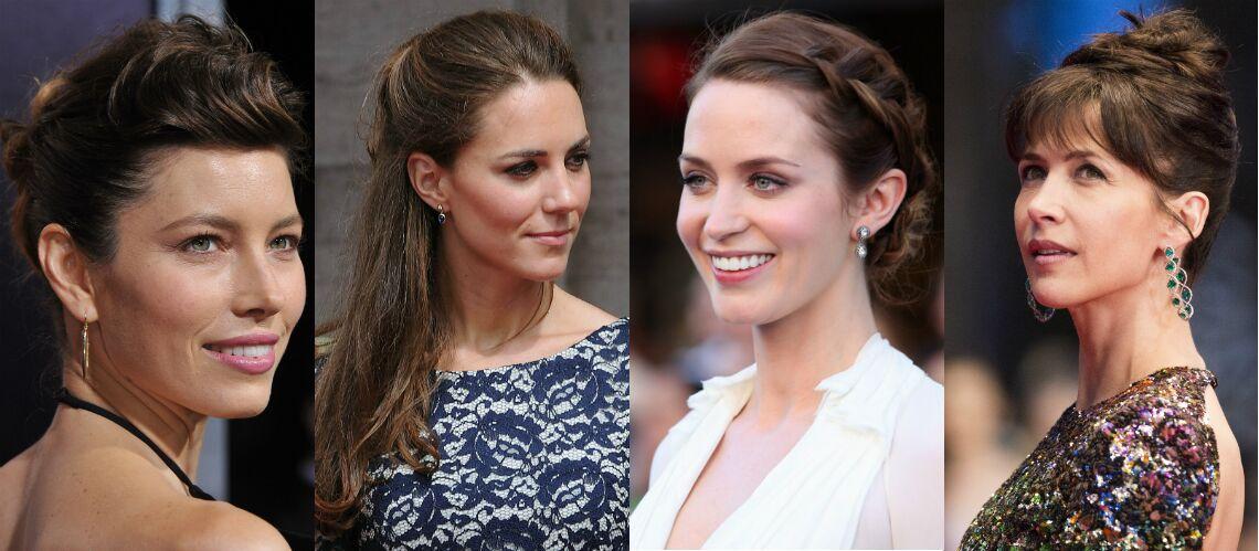 PHOTOS – Kate Middleton, Sophie Marceau… Les plus belles coiffures de fêtes  repérées chez les stars - Gala b9a353fef68