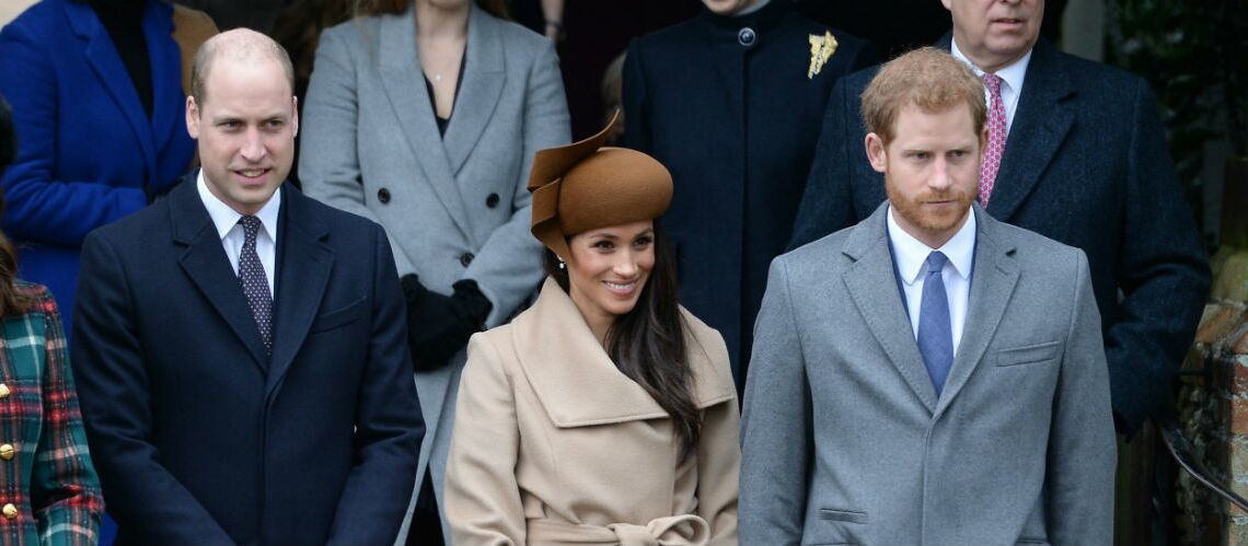 Photos – Les princes William et Harry, Kate Midd­le­ton,Meghan Markle réunis pour la messe de Noël