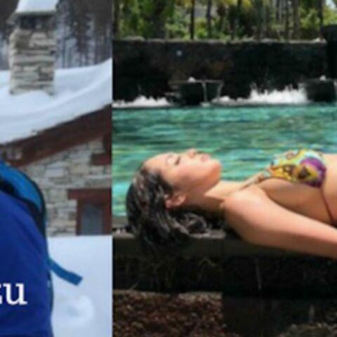 PHOTOS -Stars en vacances: Nabilla sexy à l'île Maurice, Patrick Bruel au Mexique, Mariah Carey, Bixente Lizarazu… à la neige