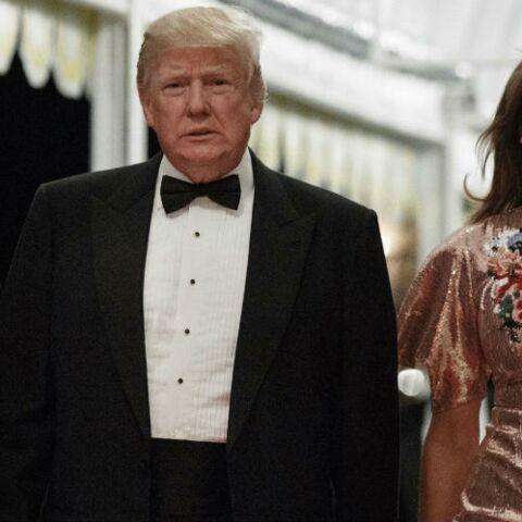 PHOTOS – Melania Trump plus bling bling que jamais pour les festivités du Nouvel An