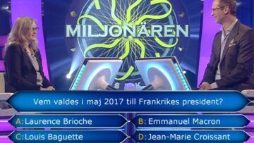 VIDEO- Emmanuel Macron risée d'un jeu télé en Suède