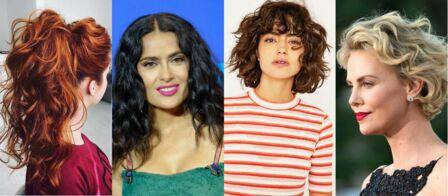 Coupe de cheveux  les tendances coiffures cheveux bouclés 2018