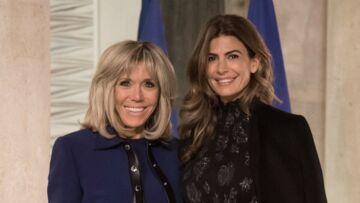 PHOTOS – Brigitte Macron chic en Louis Vuitton pour un dîner avec la première dame argentine