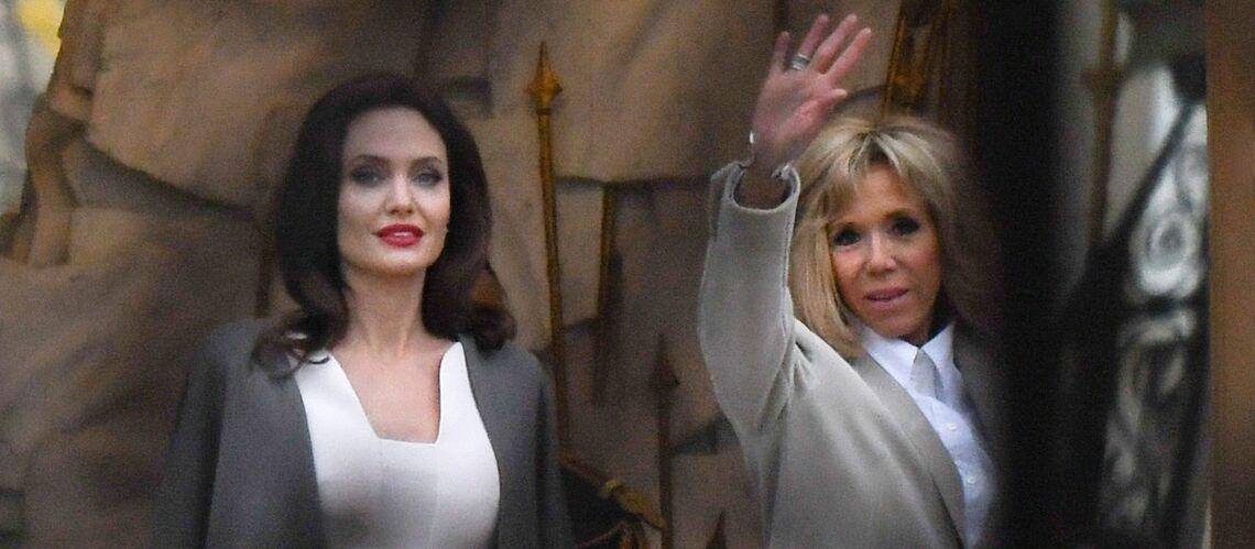 PHOTOS – Après Rihanna et Bono, Brigitte Macron reçoit Angelina Jolie