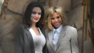 PHOTOS – Brigitte Macron et Angelina Jolie ultra glamour à Paris, qui gagne le match du style?