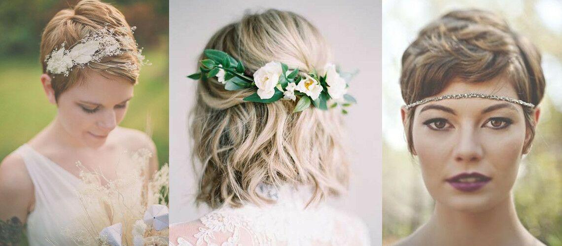 coupe de cheveux les 20 plus belles coiffures de mariage pour cheveux courts gala. Black Bedroom Furniture Sets. Home Design Ideas