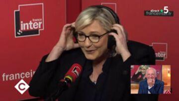 VIDEO –  Quand Marine Le Pen quitte précipitamment le studio de France Inter après une blague sur sa nièce Marion Maréchal-Le Pen