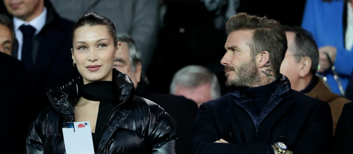 Bella Hadid et David Beckham complices en tribunes lors de PSG-Real