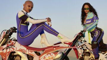 PHOTOS – Rihanna, cheveux longs wavy ultra sexy pour sa collection Fenty Puma printemps/été 2018