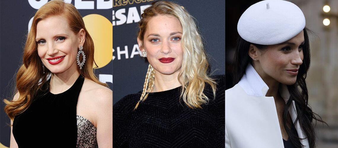 PHOTOS – Marion Cotillard, Meghan Markle… découvrez 30 stars qui ont déjà adopté la tendance canon des cheveux coiffés en side-hair