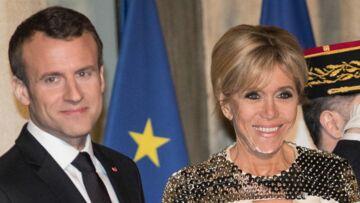 PHOTOS – Brigitte Macron très haute couture pour un dîner d'Etat face à Laurence Ferrari