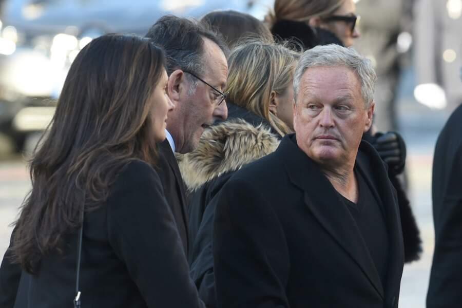 André Boudou lors de la cérémonie populaire organisée après le décès de Johnny Hallyday.