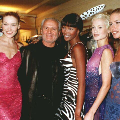PHOTOS – Gianni Versace: comment il a contribué au succès des supermodels comme Carla Bruni-Sarkosy, Naomi Campbell et Cindy Crawford?