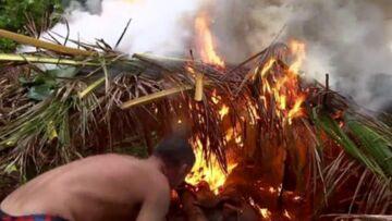 VIDEO – Par accident, un candidat de Koh-Lanta provoque un incendie et détruit la cabane de son équipe!