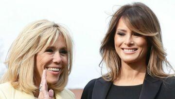 PHOTOS – Melania Trump très élégante en total look noir, elle célèbre les marques françaises en l'honneur de Brigitte Macron