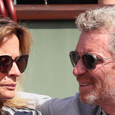 PHOTOS –Denis Brogniart et son épouse Hortense, Cyrille Eldin et sa compagne: les bons baisers amoureux de Roland Garros