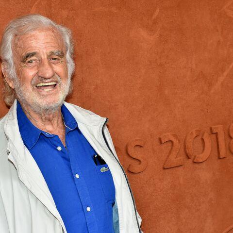 PHOTOS – Rare sortie de Jean-Paul Belmondo: l'acteur se détend Roland-Garros