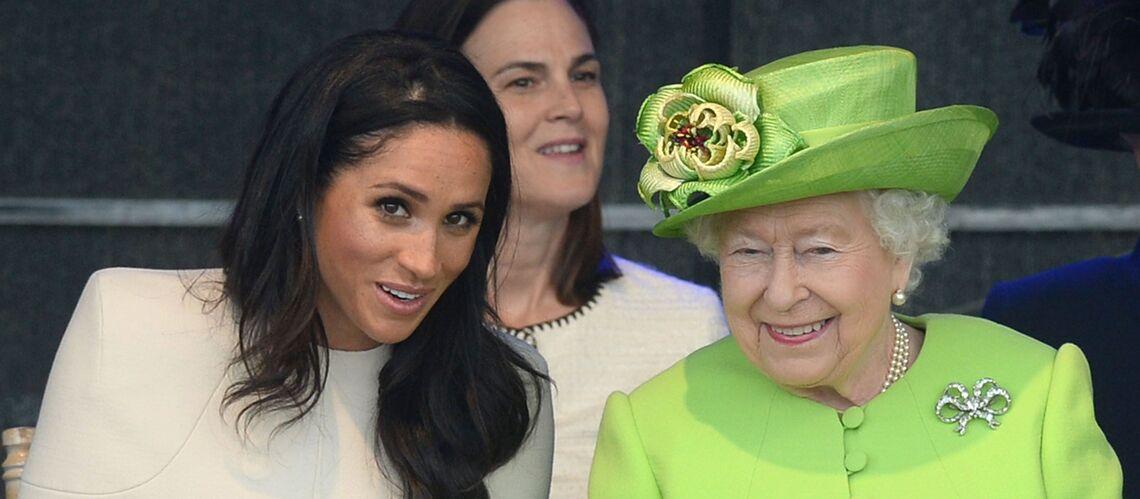 Le premier faux pas de meghan markle face la reine - Image de reine ...