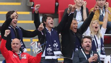 PHOTOS – Mondial: Vianney, Nagui, Nicolas Sarkozy, Bruno Guillon: supporters des Bleus contre l'Australie, en Russie