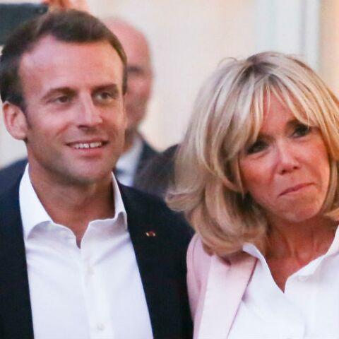 PHOTOS – Brigitte Macron en veste rose et slim noir pour électriser  l'Elysée
