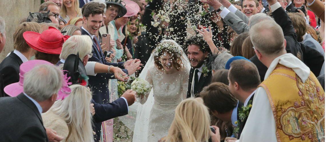 PHOTOS – Kit Harington, le beau gosse de Game of Thrones, s'est marié avec Rose Leslie, une autre actrice de la série