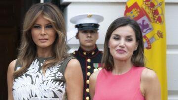 PHOTOS – Letizia d'Espagne son clin d'oeil fashion à Melania Trump