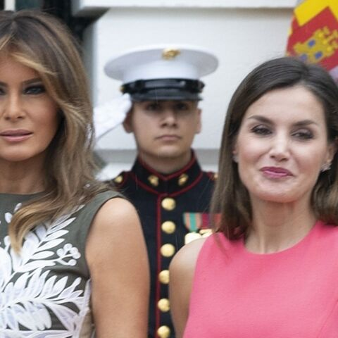 PHOTOS – Letizia d'Espagne son clin d'oeil fashion à Melania Trump