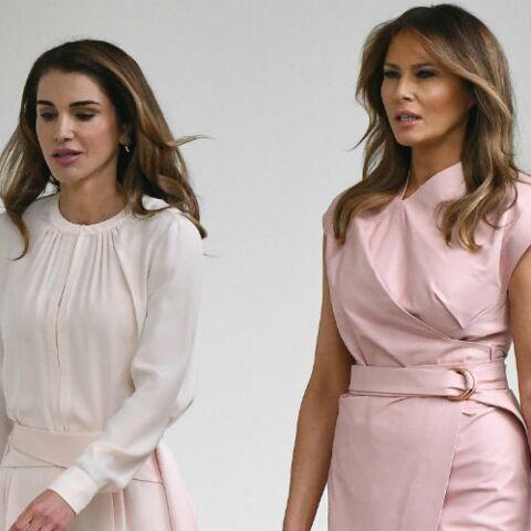 PHOTOS – Melania Trump, Brigitte Macron, Letizia d'Espagne.. quelle First lady porte le mieux la robe rose?