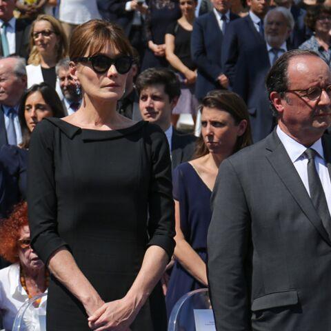 François Hollande et Julie Gayet retrouvent Nicolas Sarkozy et Carla Bruni pour l'hommage à Simone Veil