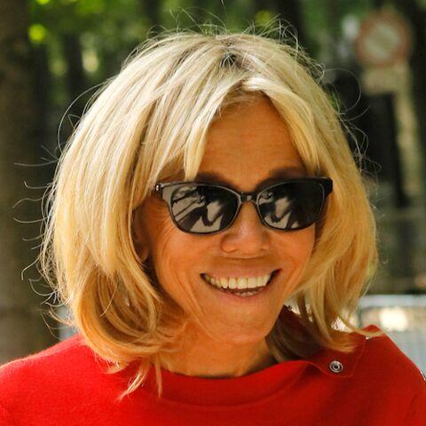 Anniversaire de Line Renaud: Brigitte Macron tout sourire avec Pascal Obispo