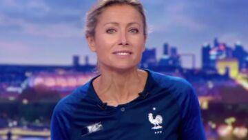 VIDEO – Après sa boulette, Anne-Sophie Lapix se fait pardonner et porte le maillot des Bleus pendant son JT