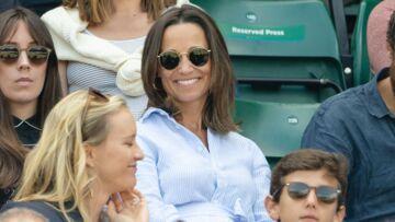 PHOTOS – Pippa Middleton à Wimbledon: en robe chemise elle affiche son joli baby bump