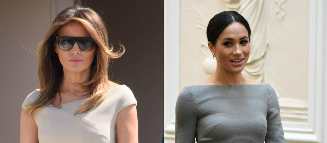 PHOTOS – Melania Trump copie Meghan Markle: la first lady tenterait-elle de séduire les Anglais?