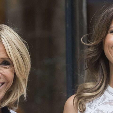 PHOTOS – Brigitte Macron et Melania Trump tout sourire pour leurs retrouvailles