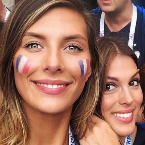 PHOTOS: En maillot, maquillées, en bleu blanc rouge: les stars à fond derrière les Bleus