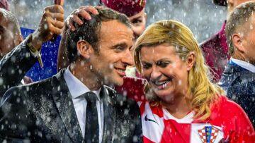PHOTOS – Emmanuel Macron et la présidente croate: leur étonnante complicité après la victoire des Bleus