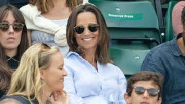 PHOTOS – Pippa Middleton enceinte: utilise-t-elle sa tenue pour faire passer des messages?