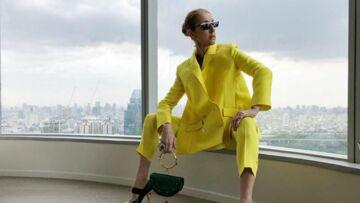 Céline Dion ose le tailleur jaune flashy et électrise ses fans