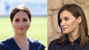 PHOTOS – Meghan Markle et Letizia d'Espagne reines de la mode: elles portent le même look le même jour