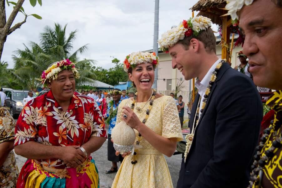 En voyage officielle William et Kate n'hésitent jamais à faire une pause coco