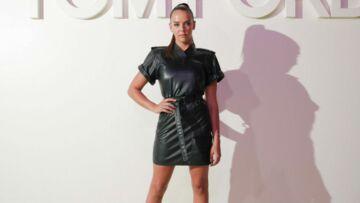 PHOTOS – Pauline Ducruet super sexy en minirobe en cuir au défilé Tom Ford