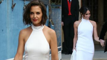 PHOTOS – Katie Holmes en robe blanche, elle copie à son tour Meghan Markle
