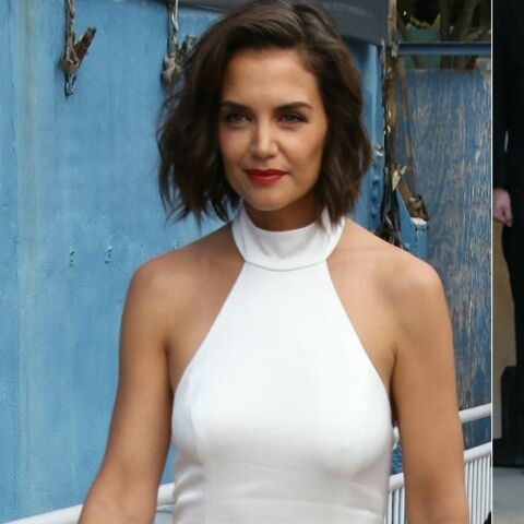 PHOTOS – Katie Holmes en robe blanche, elle copie à son tour Meghan Markle