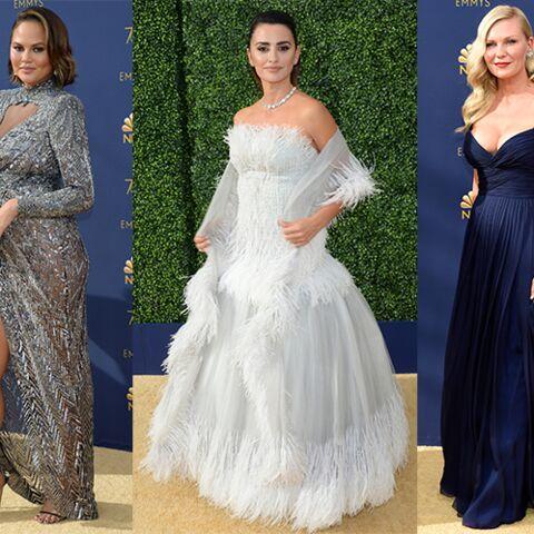 fa337c60aaa PHOTOS – Emmy Awards 2018   les tendances des robes de soirée sur le ...